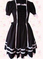 Distinct Top Seller Black Gothic Lolita Dress