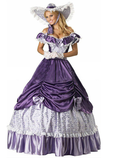 Vintage Purple Lace Victorian Lolita Dress sale at salelolita.com