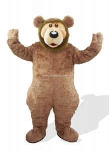 Brown Plush Adult Bear Mascot Costume