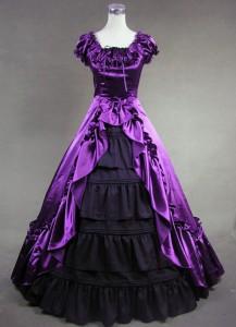 purple victorian dress