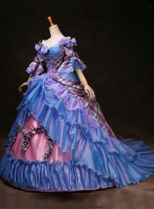 High-grade Customized Blue Marie Antoinette 18th Century Wedding Dress Medieval Renaissance Gowns Costume