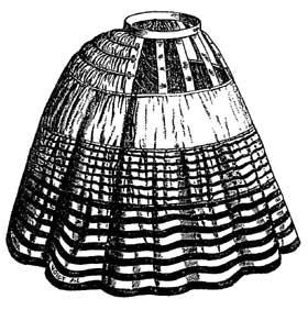 DOUGLAS & SHERWOOD'S PATENT BALMORAL HOOP SKIRT - 1858