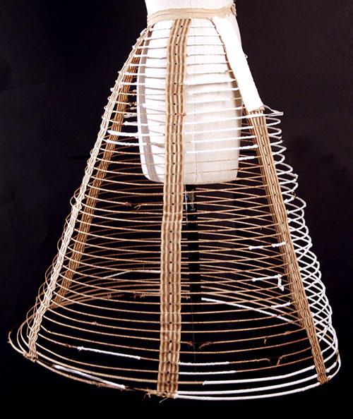 MID-19th CENTURY CAGE CRINOLINE OR HOOP SKIRT