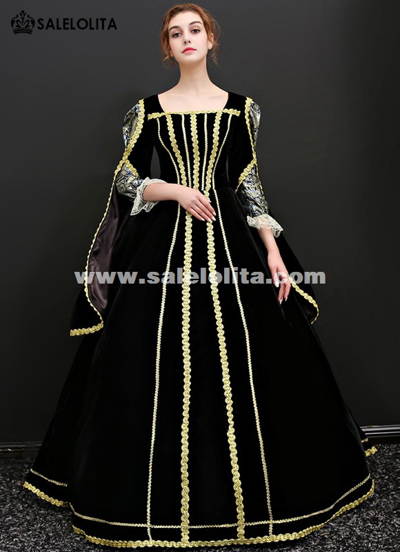 Cinderella Movie Theme Gown Black Vampire Dress Gothic Queen Gown For Halloween