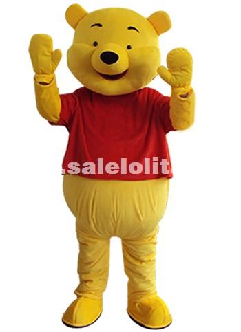 Adult Size Pooh Bear Christmas Parade Costume Birthday Party Winnie The Pooh Costume Cartoon Plush Cloth Customization