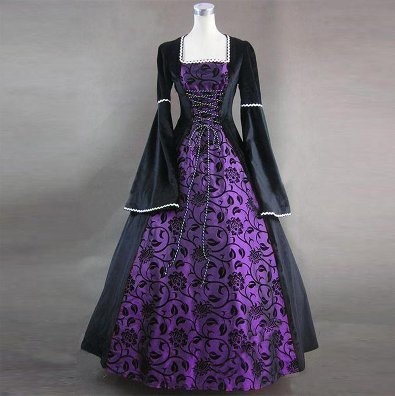 Purple Velvet Medieval Renaissance Dress Game of Thrones Theater Costume