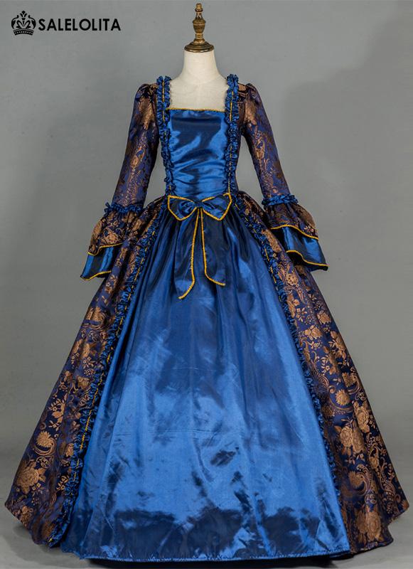 Renaissance Brocade Colonial Victorian Ball Gown