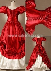 Wholesale Vintage Red Gothic Victorian Lolita Dress
