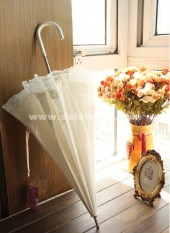 Gorgeous White Lolita Wedding Umbrella