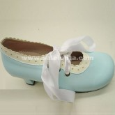 Custom Cute Blue And Purple Princess Lolita Shoes With Shoelace