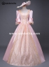 Edwardian Era Historical Wedding Princess Gowns Southern Belle Prom Dress Victorian Marie Antoinette Ball Gown Pink Dress