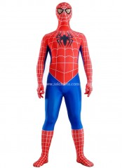 Red And Blue Lycra Spandex Adult Spiderman Costume