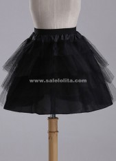 Hot Sale Black No Hoop 2 Layers Wedding Petticoat,Ballet/Maid/Lolita Underskirt Crinoline