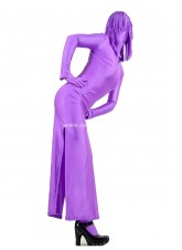 Purple Full Covered Spandex Catsuits