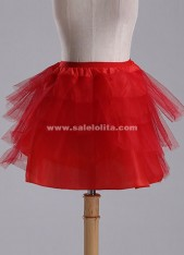 Hot Sale Red No Hoop 2 Layers Wedding Petticoat,Ballet/Maid/Lolita Underskirt Crinoline