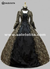 Colonial Georgian Gothic Victorian Period Dress Party Prom Gown Reenactment Theatre Stage Clothing