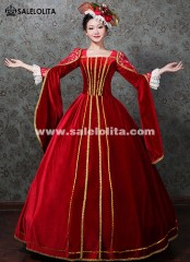 Queen Wedding Red Costume Carriage Gown Cinderella Theatre Fantasy Dresses