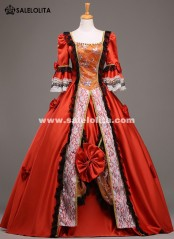 High-grade 18th Century Marie Antoinette Ball Gown Vintage Red Wedding Dress Theatre Clothing Long Party Dress