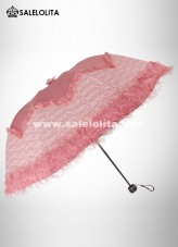 Fashionable Pink Lolita Lace Umbrella