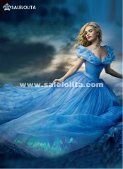 2019 Custom Made New Blue Adult And Kids Movie Geo Gorgeous Cinderella Princess Dress Women Cinderella Halloween Party Dress