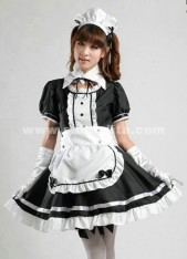 High Quality Sweety Top Sale Cotton Black And Red Japanese Maid Costume ,Princess Halloween Cosplay Costume Uniform
