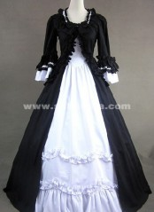 BIG DISCOUNT-LIMITED TIME!! Luxurious Long Black Gothic Vitoria Prom Dresses