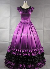 Gorgeous Purple Satin Gothic Victorian Gown