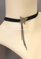 Bow Velvet Necklace, Vampire Evening Dress Accessories MTN47