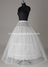 Hot Sale White 3-Hoop 1-Layer Ball Gown Crinoline Petticoat/Underskirt/Slip Bridesmaid/Wedding Dress