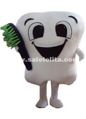 The Latest Solid Tooth Mascot Costume Adult Cartoon Cosplay Fantasia Clothing