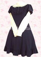 Deep Blue Short Sleeves Classic Lolita Dress