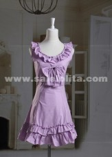 Puple Ruffles Sleeveless Classic Lolita Dress