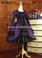 New Arrival Purple Cotton Multi-layer Lolita Dresses For Ladies