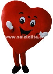Valentine Heart Mascot Costume Christmas Parade Costume Cheerleader Mascot Costume Birthday Costume for Adults