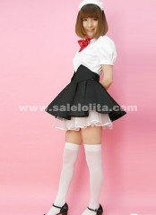 2018 Top Sale Cotton Black And White Knee-Length Mini Casual Cosplay Lolita Dresses For Women