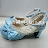 blue cos/sd doll cartoon princess lolita shoes