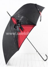 Gorgeous Black Goth Lolita Umbrella