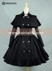 Classic Black Shawl Double-breasted Lolita Dresses