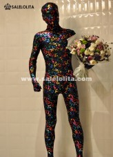 Adult Multicolor Lycra Full Body Zentai Suit 3D Printing Halloween Party Costume