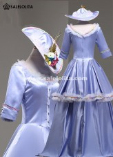 High-end Blue Rococo Baroque Marie Antoinette Ball Gown 17th Century Renaissance Historical Period Dress
