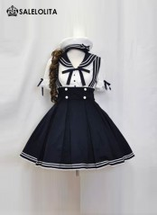 Sweet Navy Princess Japanese Lolita Kawaii School Uniform Cosplay Sailor Lolita Dress