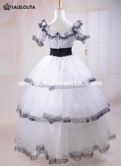 White Adult Women Southern Belle Costume Victorian Dresses