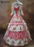 High-end Pink Floral Beading Marie Antoinette Dress Vintage Baroque Rococo Wedding Dress Prom Dress
