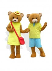 Teddy Bear Mascot Cartoon Costume for Female/Male