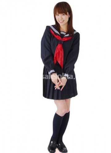 Hot Sale School Lolita Dress With Red Tie