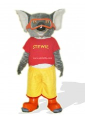Skiing Adult Koala In Red Clothes Costume
