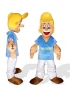 Blond Popeye The Sailor Plush Adult Mascot Costume