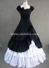 Elegance Black and White Gothic Vitorian dress