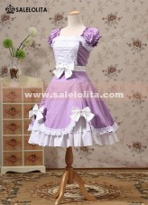 Classic Purple Cotton Lolita Dresses
