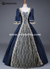 17th Century Historical Theatre Performance Gown Medieval Marie Antoinette Dress